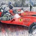 """Ferrari Dino 246 F1 1958 Mike Hawthorn French GP"" by shevchukart"