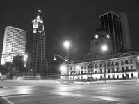 Downtown in B&W