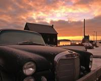 Old Car at Sunset in Luneburge Nova Scotia