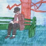 """Man on a Green Bench"" by jmeraz"