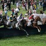 """The Grand Stand Jump At Shawan Downs"" by McallenPhotography"