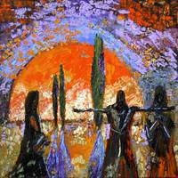The Sun Guardians Oil Painting by Ginette Callaway