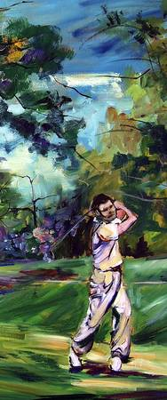 On The Golf Course #3  Painting  Ginette Callaway