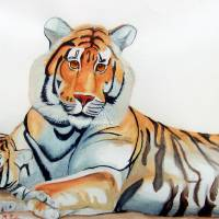 Two Tigers Art Prints & Posters by Patricia Rivers