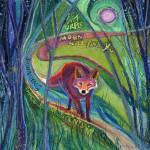 """Fox at Purple Moon"" by FaithNolton"
