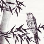 """bamboo_n_bird_3"" by gbensonart"