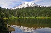 Mount Rainier above Reflection Lake