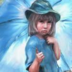 """blue umbrella"" by pietrastone"