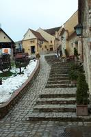 Right alley within Rasnov Fortress - Romania