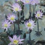 """""Water lilies"" Oil, Canvas.  16""X20""   2010 year"" by Guzel"