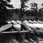 """Canoes in black and white"" by photographicleigh"