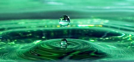 Water drop experiment