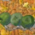 """""Granny Smiths"", Abstract Sill life Collage Art"" by schulmanart"