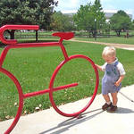 """red bicycle2"" by pietrastone"