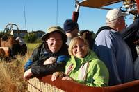 Pat & Laurie in hot air balloon, Napa Valley