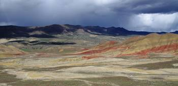 Rain Shower Over Painted Hills