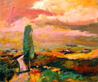 Summer in Tuscany Oil Painting by Ginette