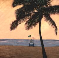 Hollywood Lifeguard Stand with Tree by Joe Gemignani