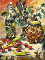 My Wholesome Kitchen Oil Painting by Ginette