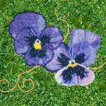 """Purple Pansies"" by bjasmine"