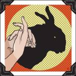 """Shadow Puppet Theater: Rabbit"" by sentriagraphicdesign"