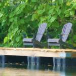 """Adirondack Chairs on Dock"" by houseportraits"