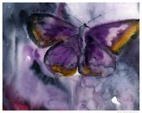 Deep Purple Painting/Watercolor Fine Art