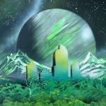 """Denver Space Graffiti"" by mizu"