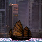 """Chinese Junk in Hong Harbor"" by joegemignani"