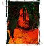 """Bob Marley by Michael T. Bane"" by tBaneArt"