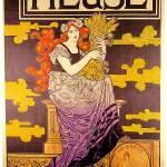 """""""Bieres de la Meuse 1896 Vintage Poster"""" by Johnny-Bismark"""