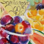 """Italian Fruit Stand"" by elilundpaintings"
