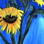 """sunflowers"" by elilundpaintings"