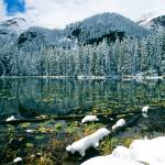 """""""Early Snow at Nymph Lake"""" by EricGlaser"""