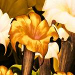 """Posters Gold Yellow Floral 2a"" by shanmaree"