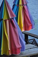 Folded Deck Umbrellas