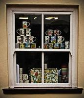 dunster cup in a window