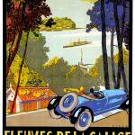"""Fleuves De La Galice ~ Spain Vintage Car Advertise"" by Johnny-Bismark"