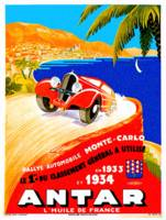 Antar Gas ~ Vintage Auto Road Race Advertisement