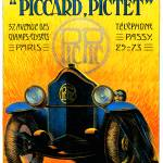 """Piccard-Pictet Pic-Pic ~ Vintage Auto Advertisemen"" by Johnny-Bismark"