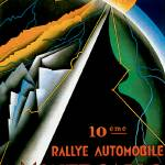 """Monte Carlo Auto Rally ~ Vintage Automobile Ad"" by Johnny-Bismark"