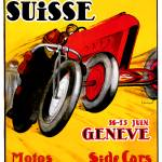 """Swiss Grand Prix ~ Vintage Auto / Car Race Ad"" by Johnny-Bismark"