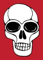Save Our Planet Skull on Red