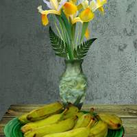 Plantains and Yellow Irises by I.M. Spadecaller