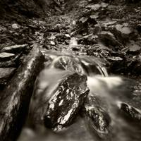 Austrian waterfall with kid (pinhole)
