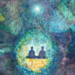 """Two Souls Meditating with God"" by ArtSamadhi"