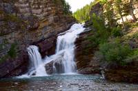Waterfall around Waterton National park