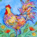 """Pop Art Chicken"" by DarleneBeville"
