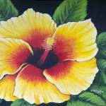 """Yellow Hibiscus"" by kathywoolingtonart"