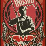 """1984 Flagwaver Propaganda Poster"" by libertymaniacs"